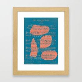 Schubert Sheet Music - Impromptu Framed Art Print