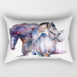 Horses #1 Rectangular Pillow