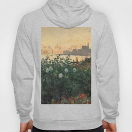 Flowered Riverbank, Argenteuil, Claude Monet Hoody
