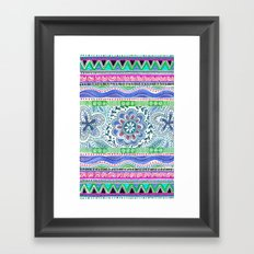 Aqua Bloom Framed Art Print