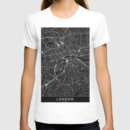 London Black Map T-shirt