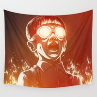 patrick Wall Tapestries featuring FIREEE! by Dr. Lukas Brezak
