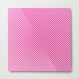 Wild Strawberry and White Polka Dots Metal Print