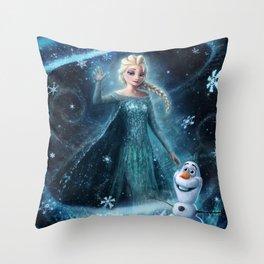 Wanna build a snowman? Throw Pillow