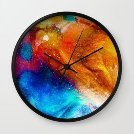 Abstracts in Color No 5, 2019 Wall Clock