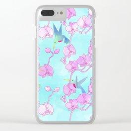 orquídeas Clear iPhone Case