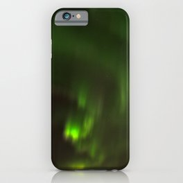 Northern lights in the North of Sweden iPhone Case