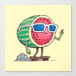 Watermelon Skater Canvas Print