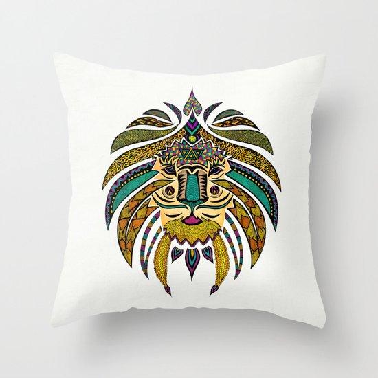 Emperor Tribal Lion Throw Pillow