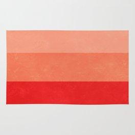 Red Grunge Stripes Rug