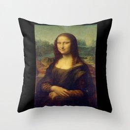 Leonardo da Vinci -Mona lisa - Throw Pillow
