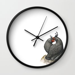 Crested Auklet (Aethia cristatella) Wall Clock