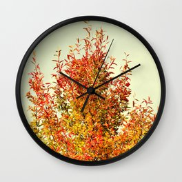 FALL COLOR LEAVES Wall Clock
