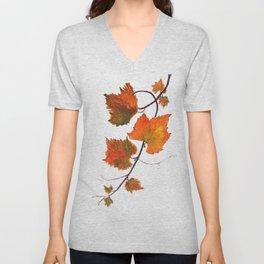 grapevine in autumn Unisex V-Neck