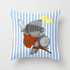 little knight in armor Throw Pillow