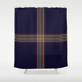 Filigree Retro Colored Lines Shower Curtain