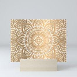 Gold Mandala 3 Mini Art Print