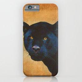 Black Jaguar in Portrait iPhone Case