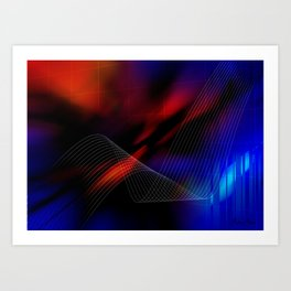Grid of Light Art Print
