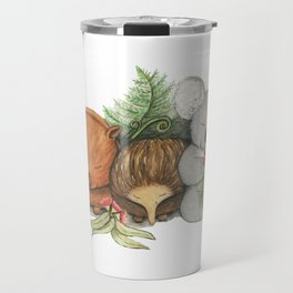Native Australian Animal Babies – With Koala, Wombat And Echidna Travel Mug