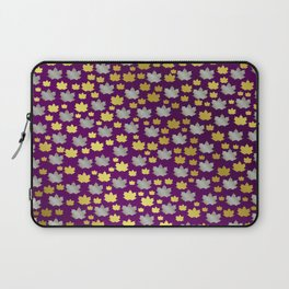 gold,silver,purple,maple, leaf, canadian, canada, symbol, design, background, fall, element, tree, c Laptop Sleeve