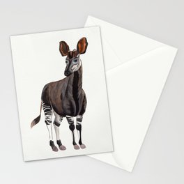 Watercolour Okapi Drawing Stationery Cards