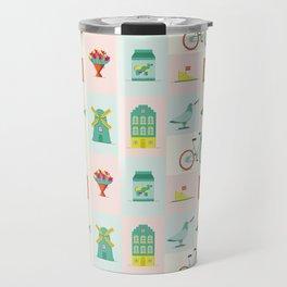 Simple Dutch pattern Travel Mug