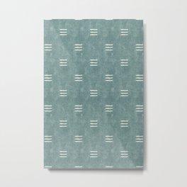triple dash - dusty blue Metal Print