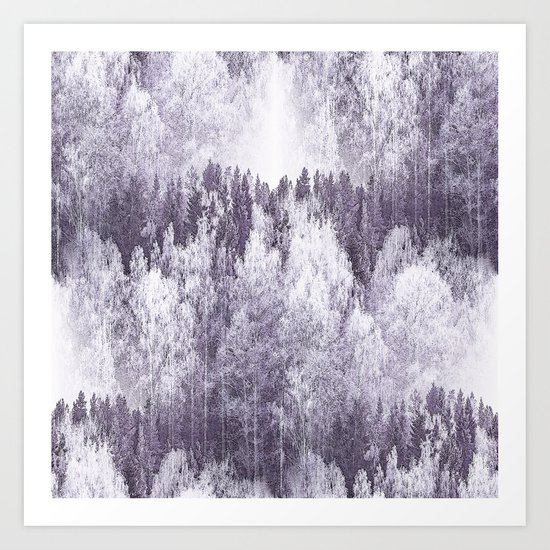 Captivating landscape - beautiful forest in winter colors Art Print