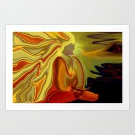 GURU IN MEDITATION Art Print