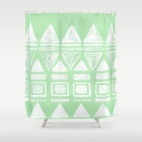 uk Shower Curtains featuring uk by L Step