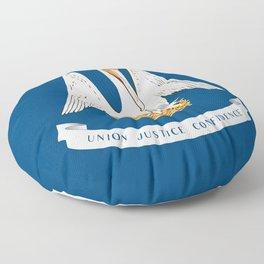 Flag of Louisiana -Louisianian,south, jazz,blues,french, new orleans, baton rouge,usa,america,us Floor Pillow