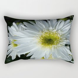 All White Rectangular Pillow