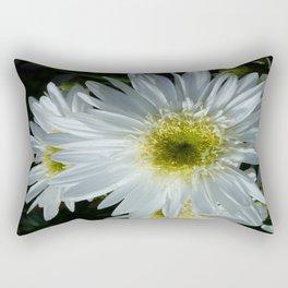 All White Rectangular Pillow