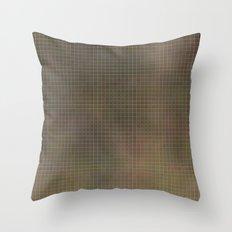 Pixels Green Throw Pillow