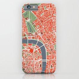 London city map classic iPhone Case