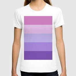 Pink Lavender Purple Stripes T-shirt