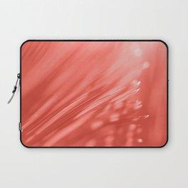 Living Coral Palm Tree Leaf Sunlight Orange Peach Tropical Floral Pattern Laptop Sleeve