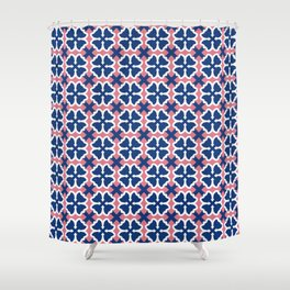 Blue Clover Shower Curtain