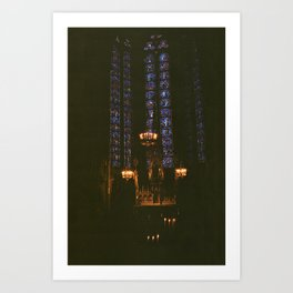 Light in the cathedral Art Print