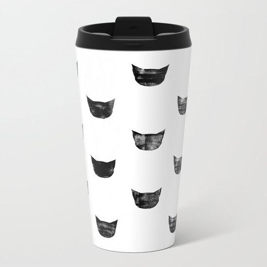Black Cat Metal Travel Mug