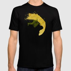 For Charlie (Homage To Guile) Mens Fitted Tee Black LARGE
