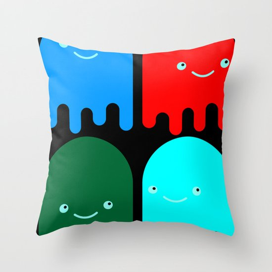 Friendly Ghosts Throw Pillow
