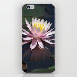 Aquatic pastel flower iPhone Skin