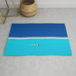 The Lone Swimmer | Aerial Rug
