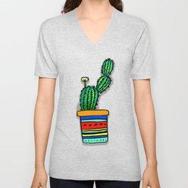 Cactus Drawing Unisex V-Neck