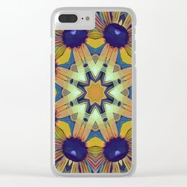 Circles of Black Eyed Susans Clear iPhone Case