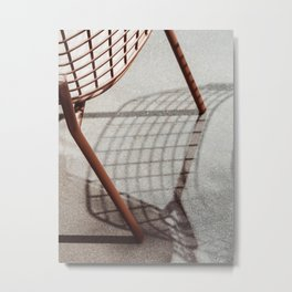 Abstract Line and Shadow Metal Print