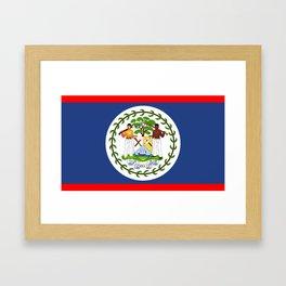 Belize county flag Framed Art Print