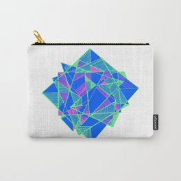 Blue Geometric pop art cool Carry-All Pouch